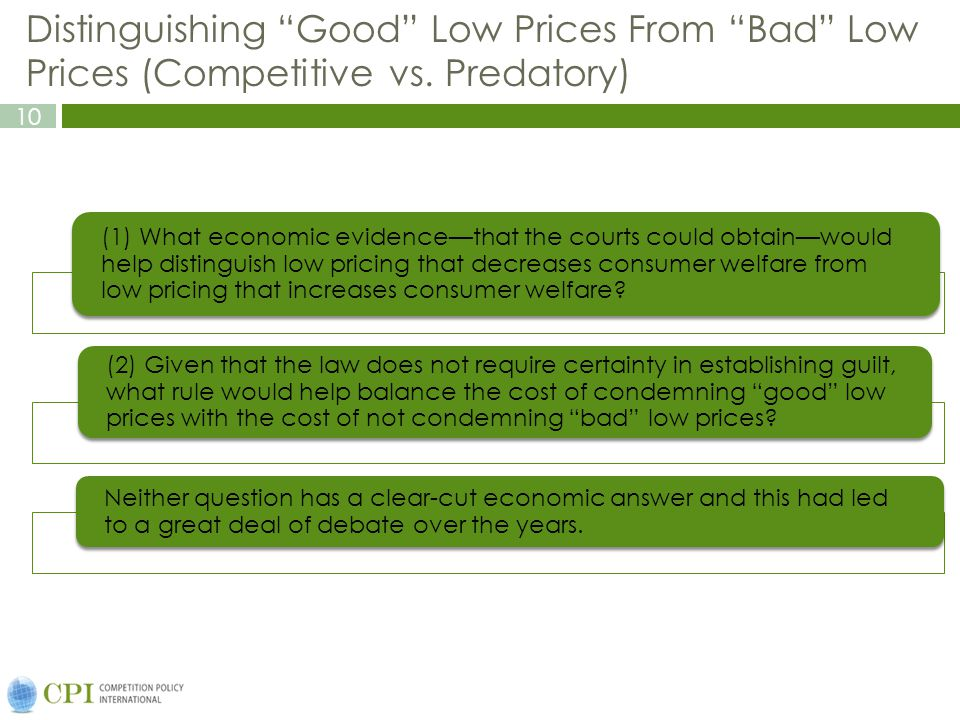 10 Distinguishing Good Low Prices From Bad Low Prices (Competitive vs.