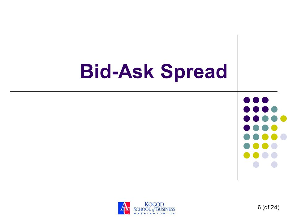 6 (of 24) Bid-Ask Spread