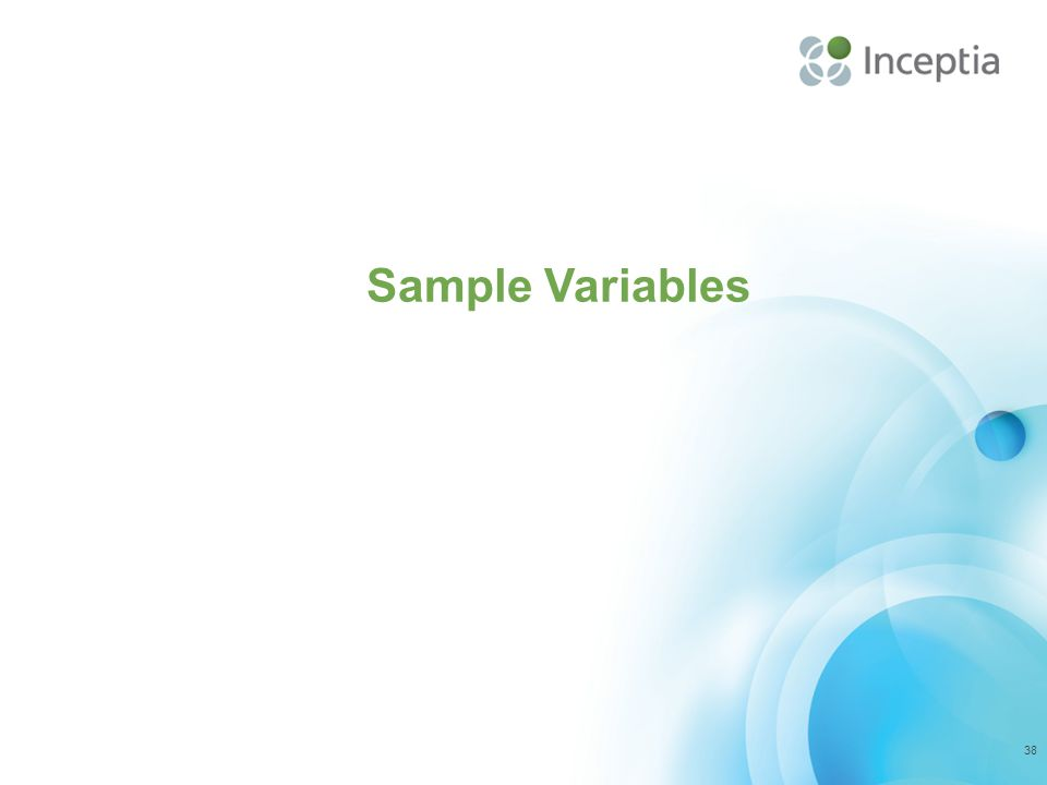Sample Variables 38