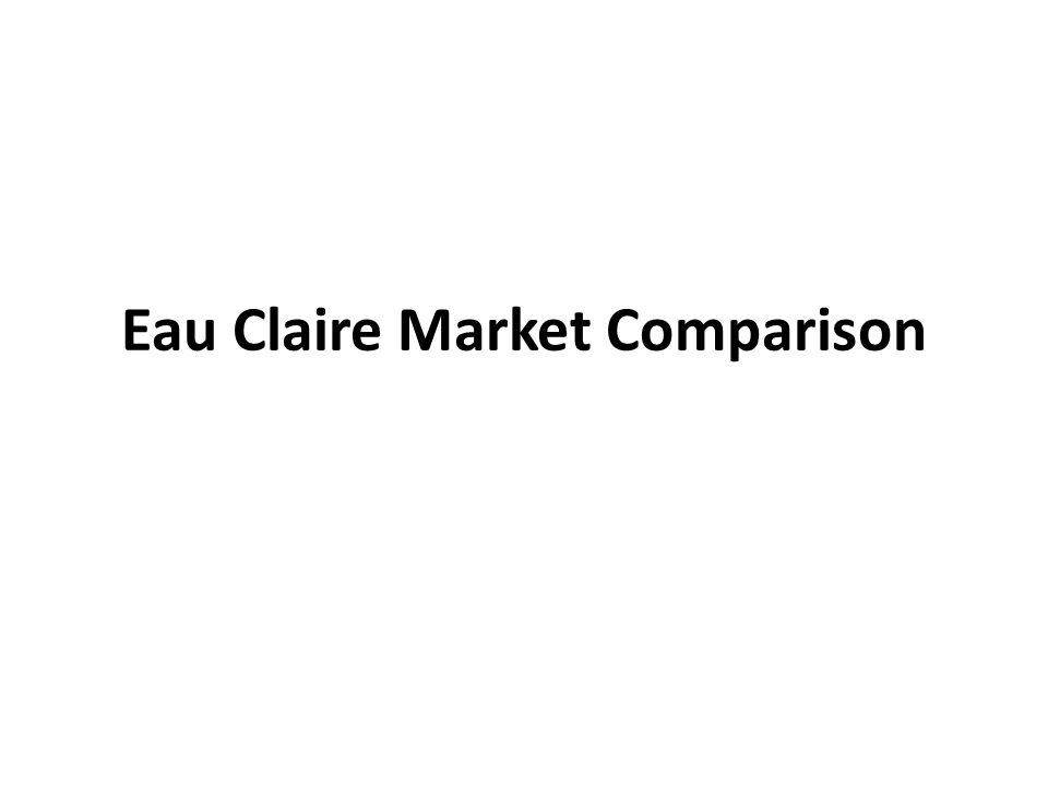 Questions How does the price dispersion of Eau Claires gas market differ from other similar-sized Midwestern cities.