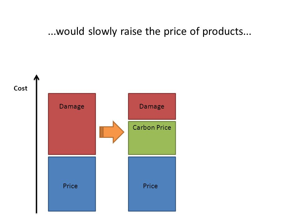 ...would slowly raise the price of products... Price Damage Price Damage Carbon Price Cost