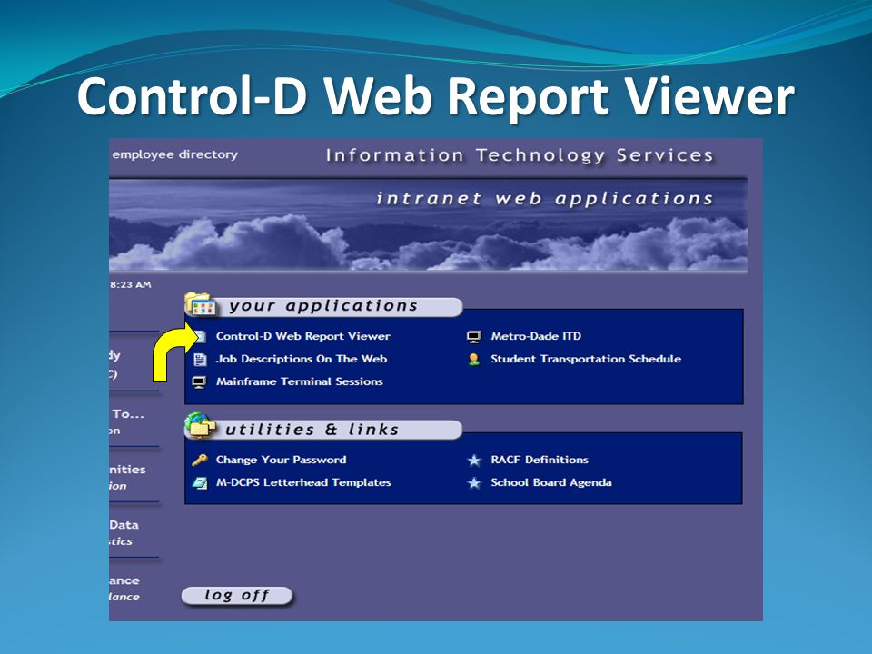 Control-D Web Report Viewer