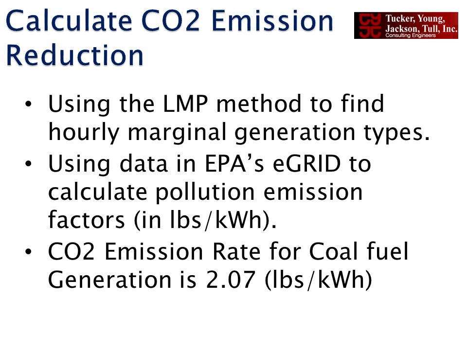 Using the LMP method to find hourly marginal generation types. Using data in EPAs eGRID to calculate pollution emission factors (in lbs/kWh). CO2 Emis