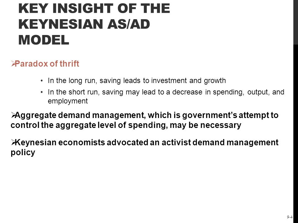 The Short-Run Keynesian Policy Model: Demand-Side Policies 9-25 SHIFTS OF THE AGGREGATE DEMAND CURVE – LEFTWARD SHIFT