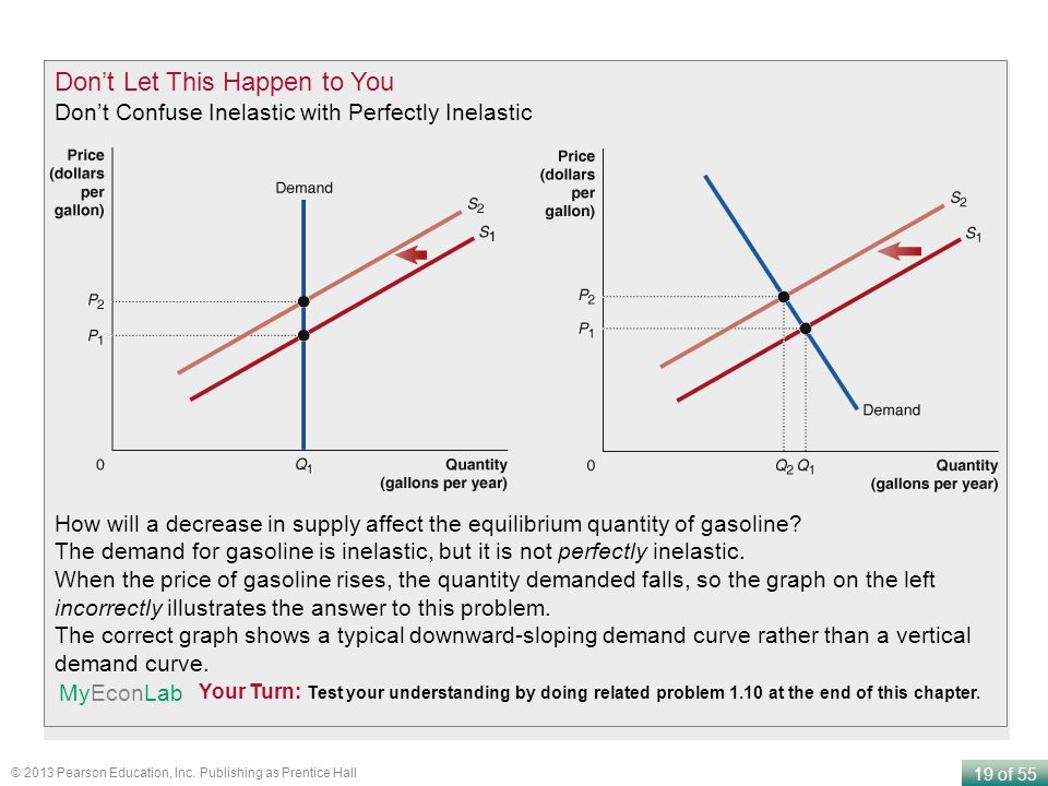 19 of 55 © 2013 Pearson Education, Inc. Publishing as Prentice Hall Dont Let This Happen to You Dont Confuse Inelastic with Perfectly Inelastic Your T