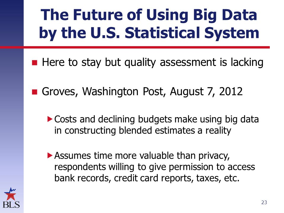 The Future of Using Big Data by the U.S.