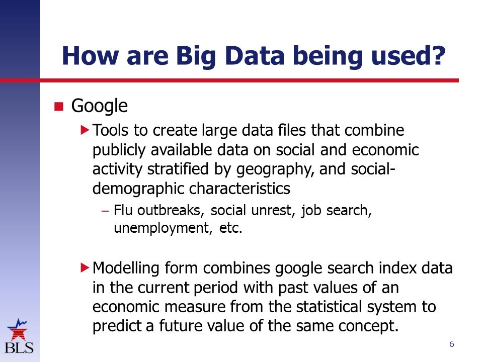 How are Big Data being used.