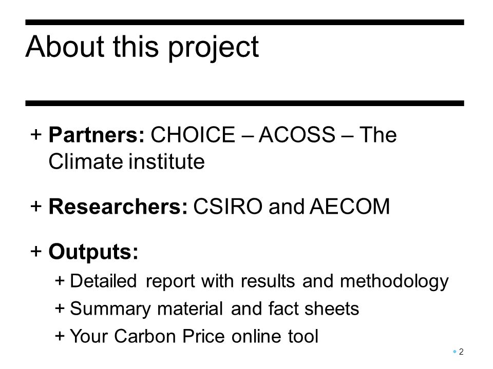 About the carbon price 3 +Who pays.