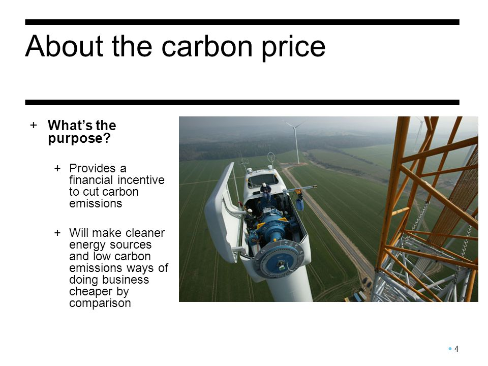 About the carbon price 5 +How much carbon pollution will be saved.