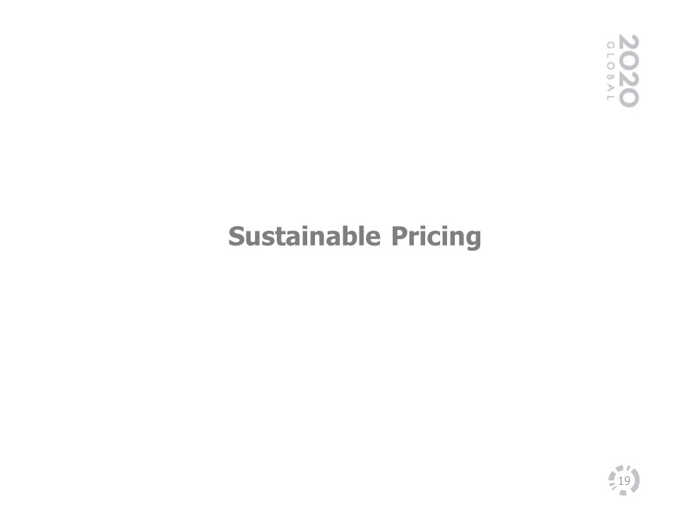 19 Sustainable Pricing