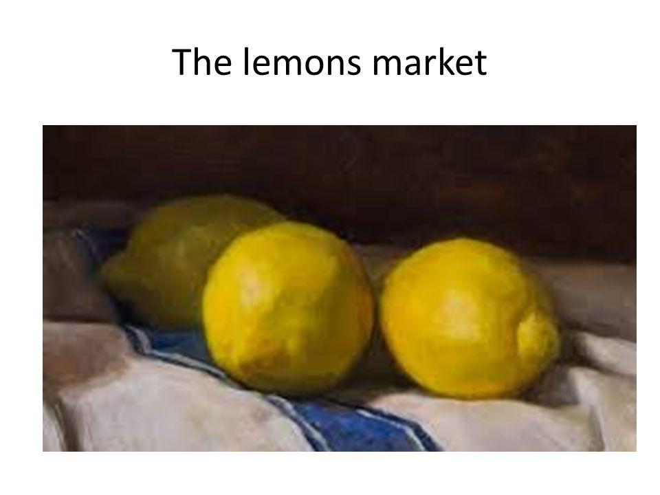 The lemons market