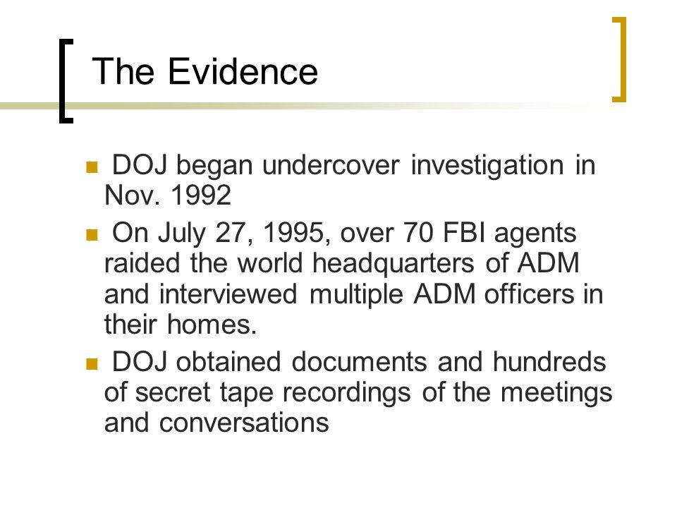 DOJ began undercover investigation in Nov.