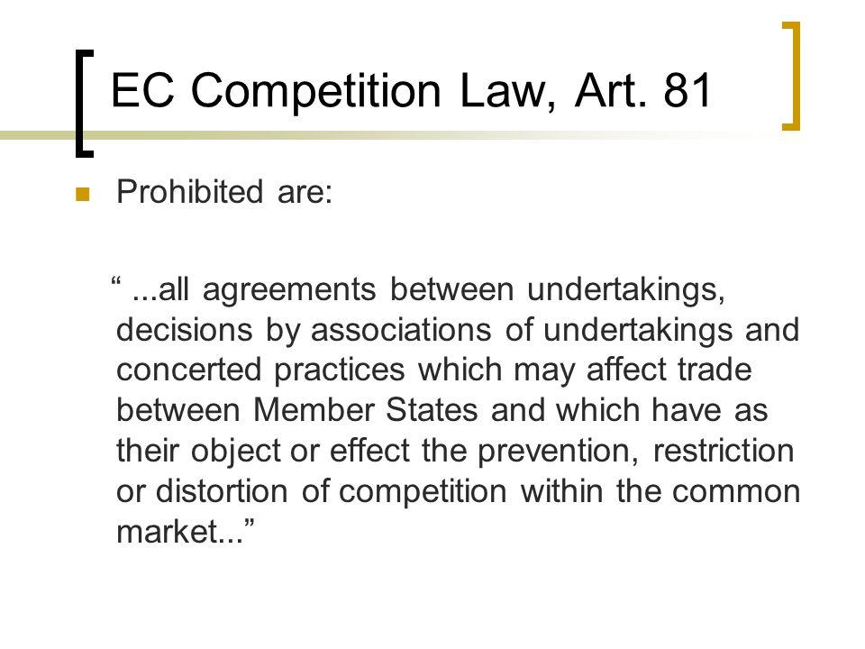 EC Competition Law, Art.