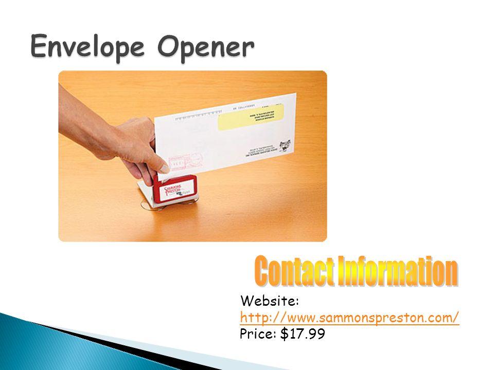Website: http://www.sammonspreston.com/ Price: $17.99