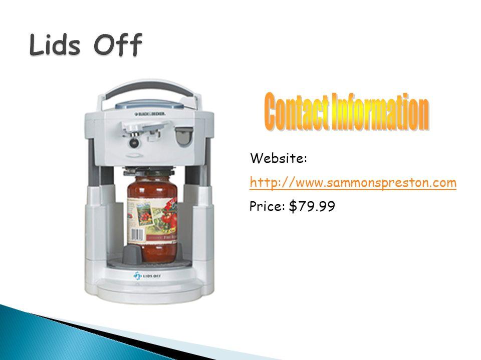 Website: http://www.sammonspreston.com Price: $79.99
