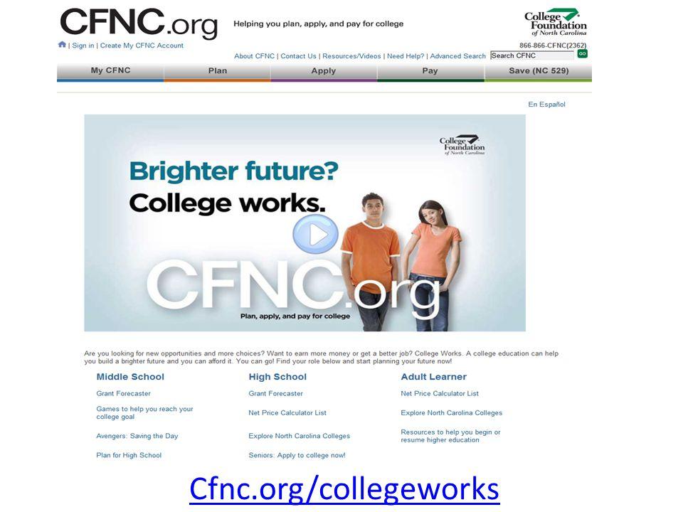 Cfnc.org/collegeworks
