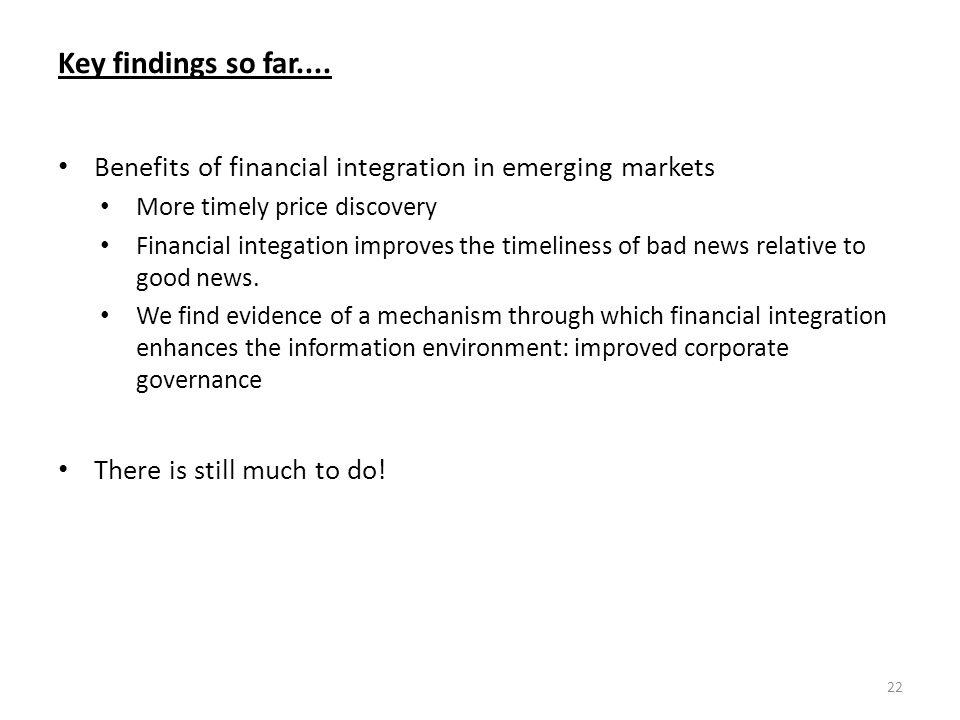 Key findings so far....