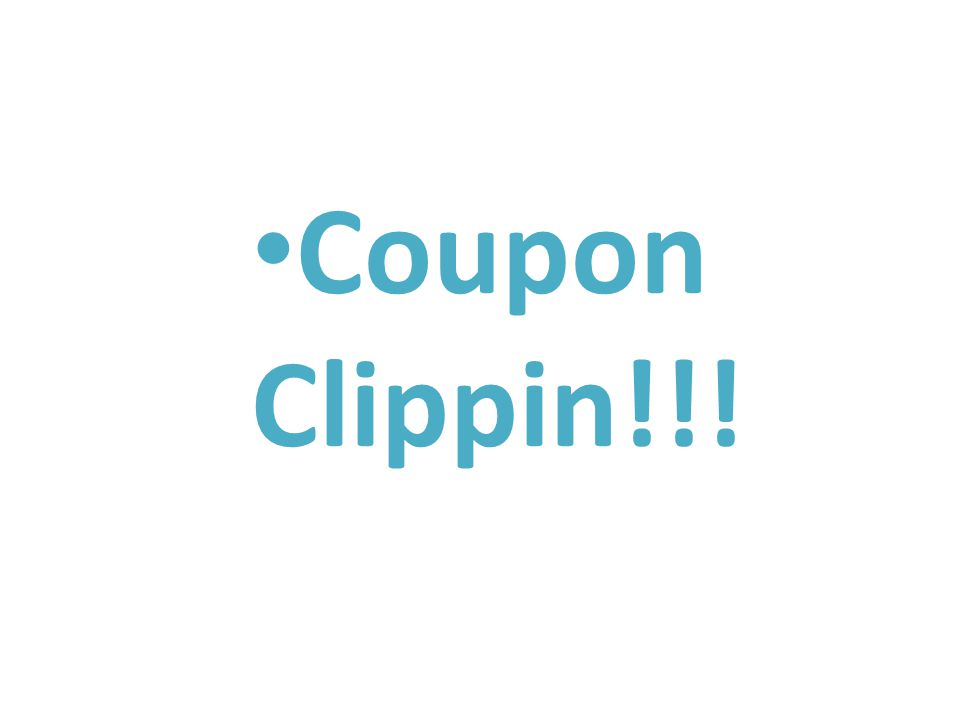 Coupon Clippin!!!