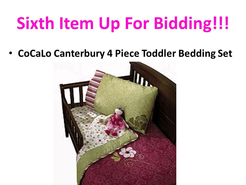 Sixth Item Up For Bidding!!! CoCaLo Canterbury 4 Piece Toddler Bedding Set