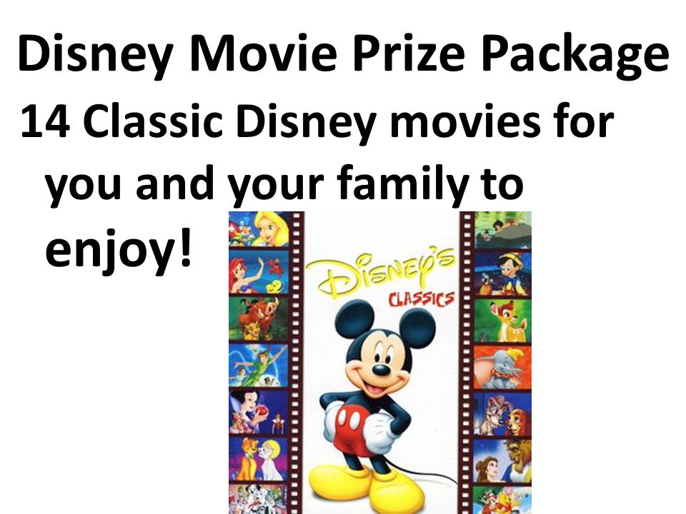 Disney Movie Prize Package 14 Classic Disney movies for you and your family to enjoy!