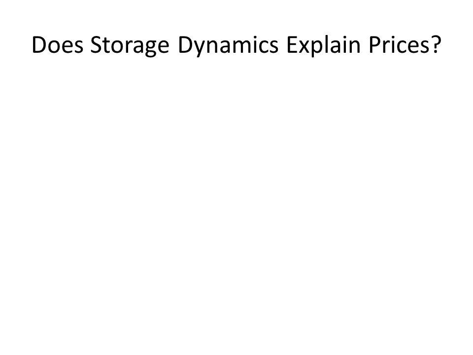 Does Storage Dynamics Explain Prices