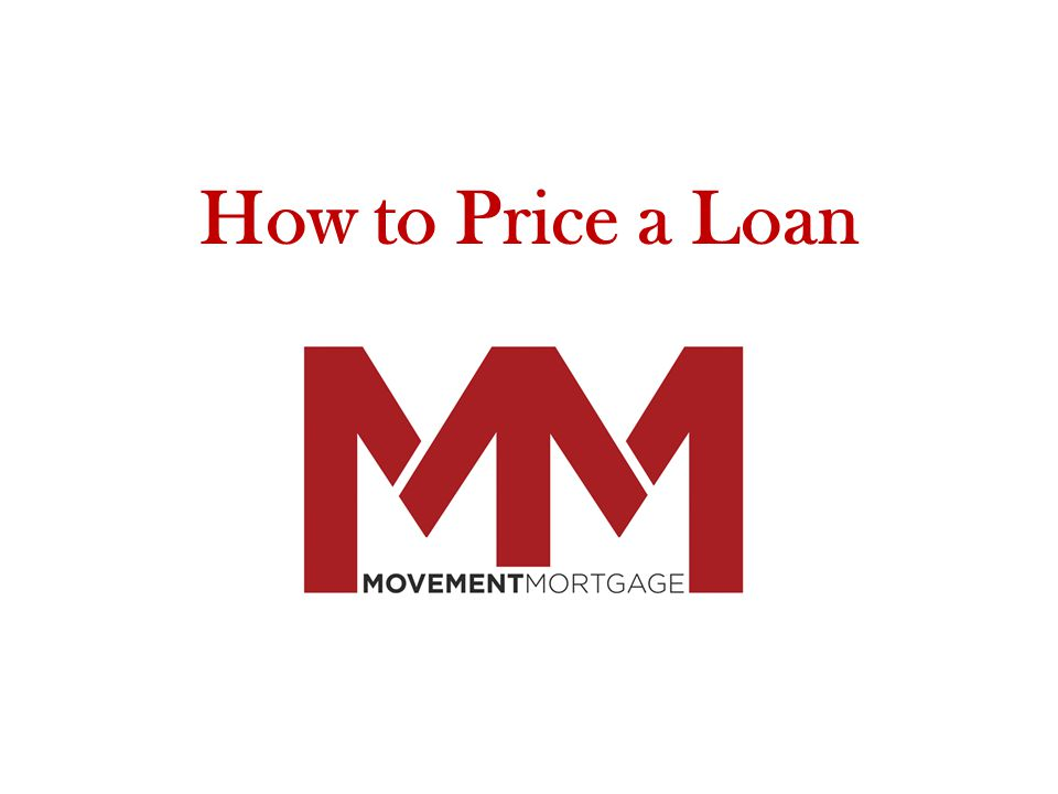How to Price a Loan