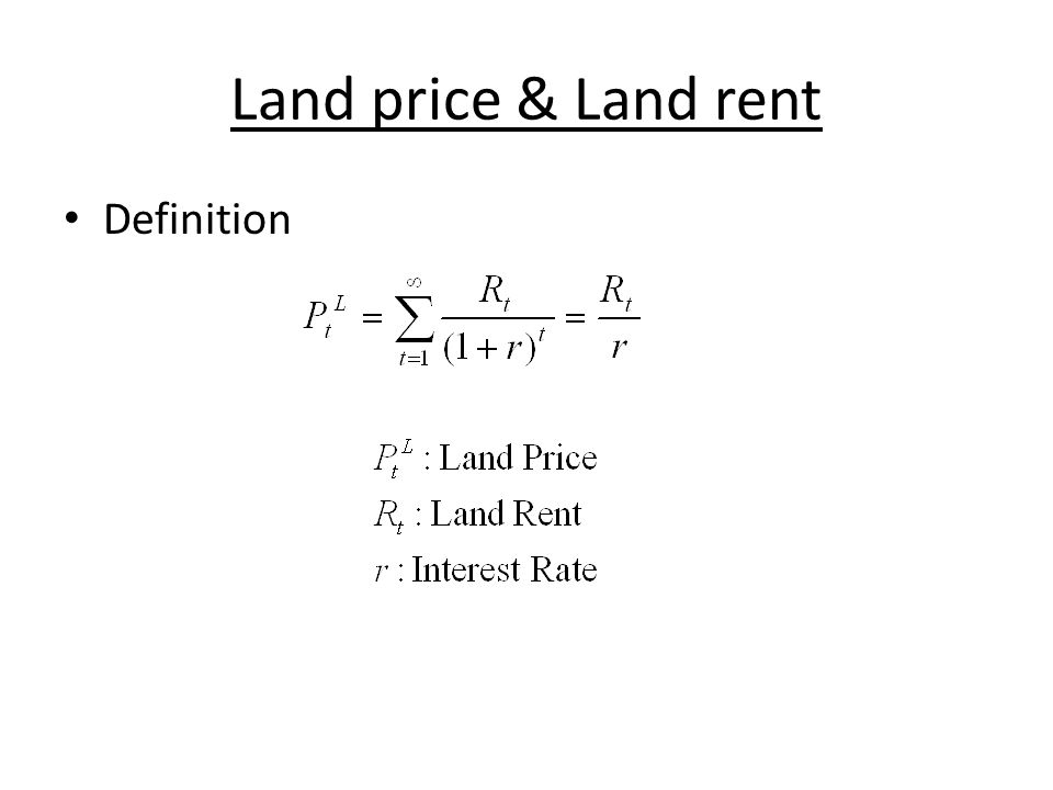 Examples – David Ricardo 1) Differences in the fertility of land.