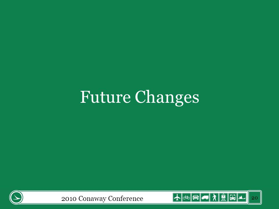 Future Changes 2010 Conaway Conference 20