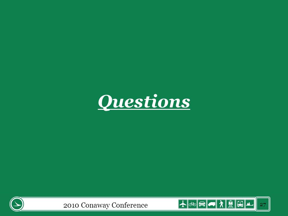 2010 Conaway Conference 27 Questions