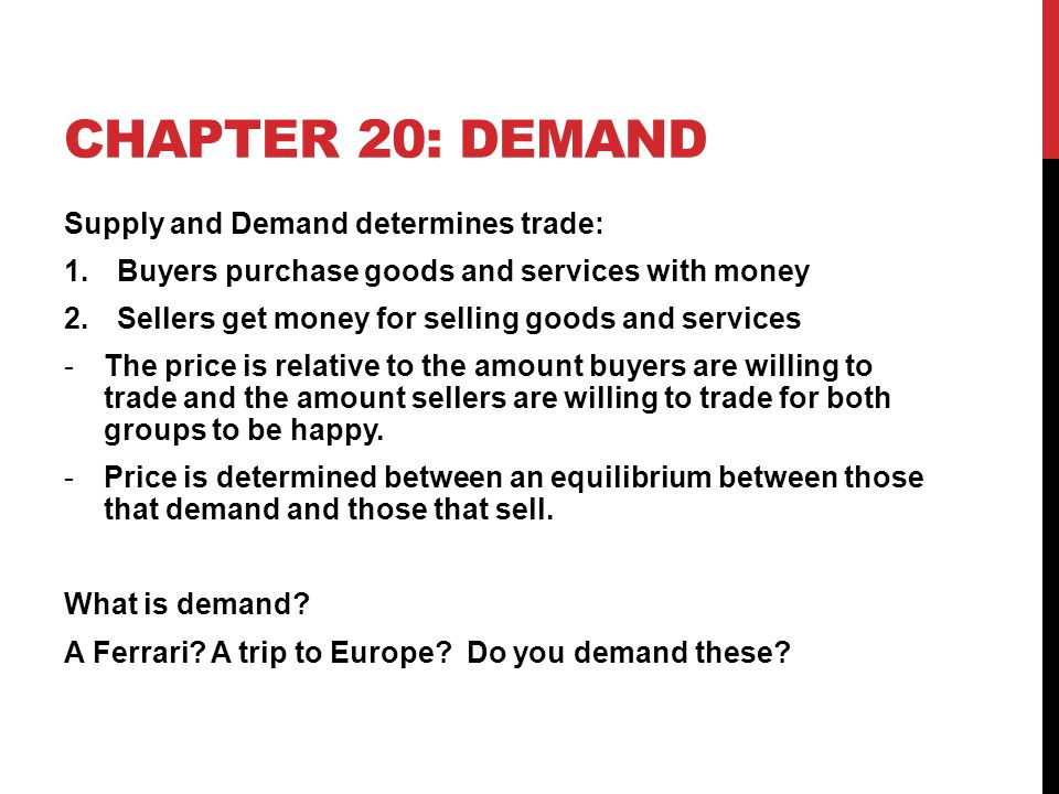 LAW OF SUPPLY As prices for a good increase, so will the quantity the producers are willing to supply.