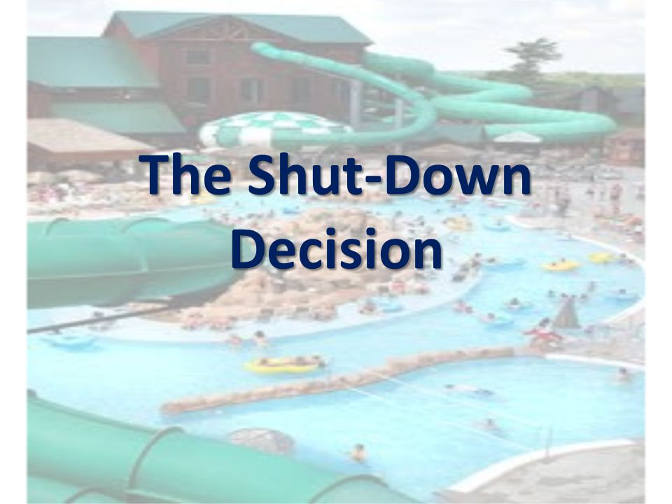 The Shut-Down Decision