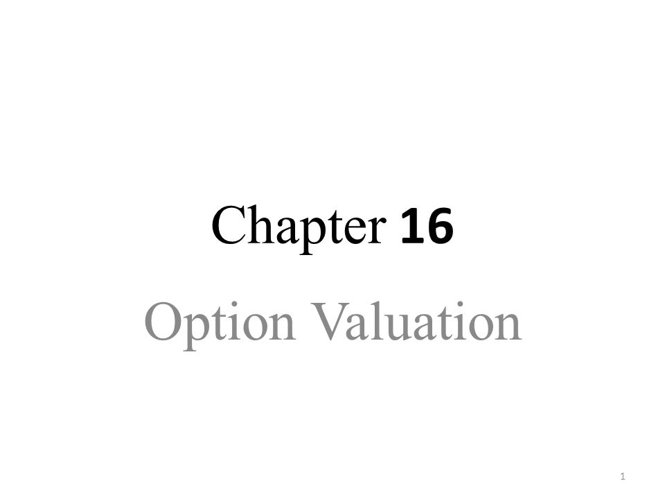 1 Chapter 16 Option Valuation