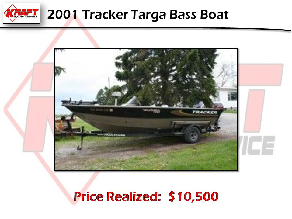 2001 Tracker Targa Bass Boat