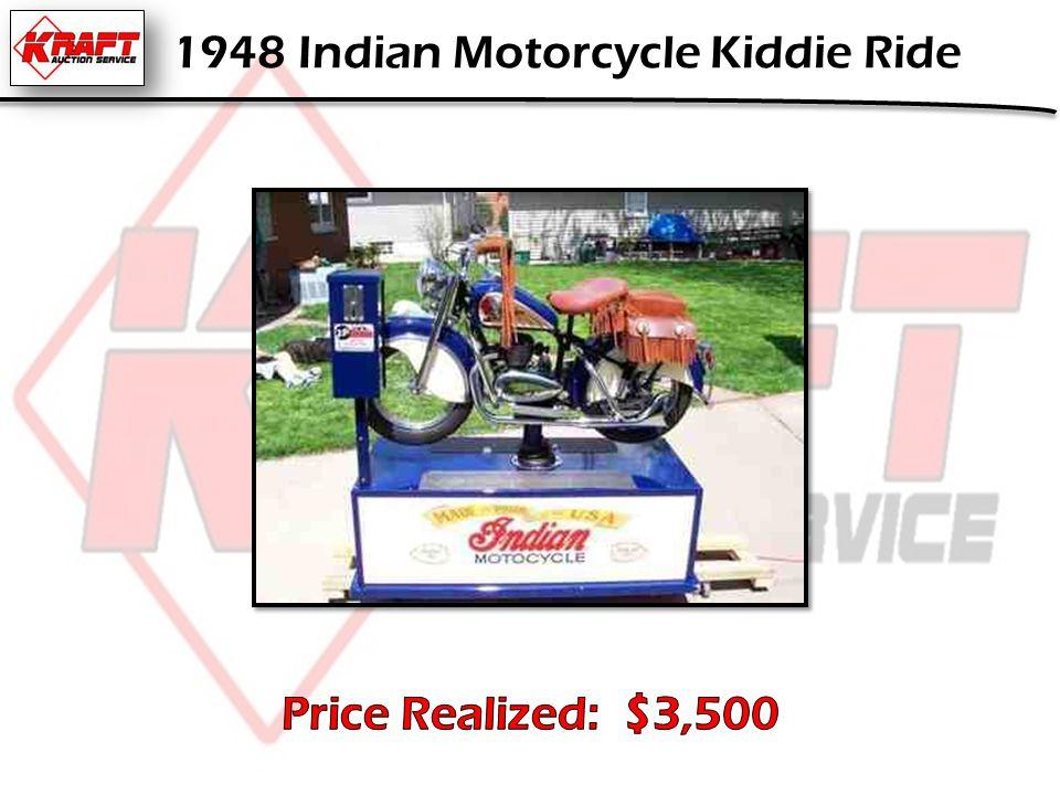 1948 Indian Motorcycle Kiddie Ride