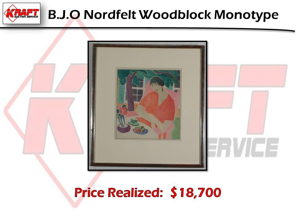 B.J.O Nordfelt Woodblock Monotype