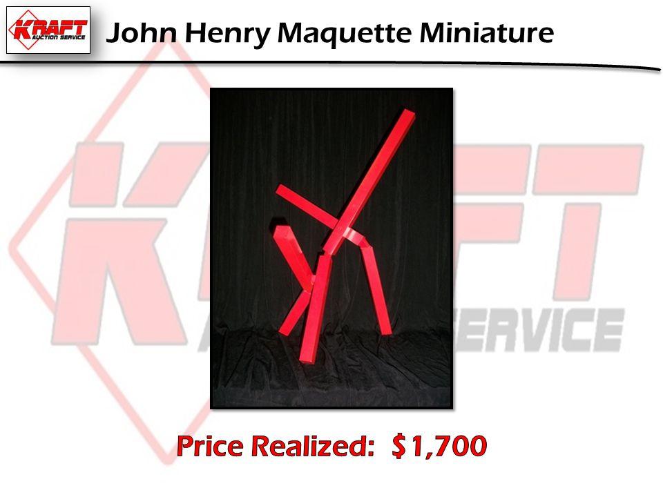 John Henry Maquette Miniature