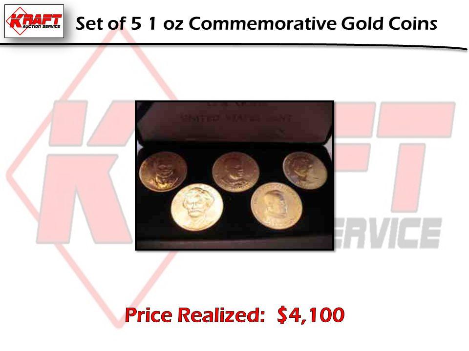 Set of 5 1 oz Commemorative Gold Coins