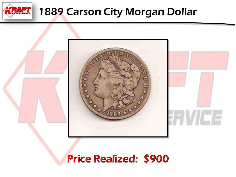 1889 Carson City Morgan Dollar