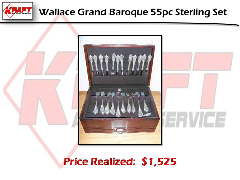 Wallace Grand Baroque 55pc Sterling Set