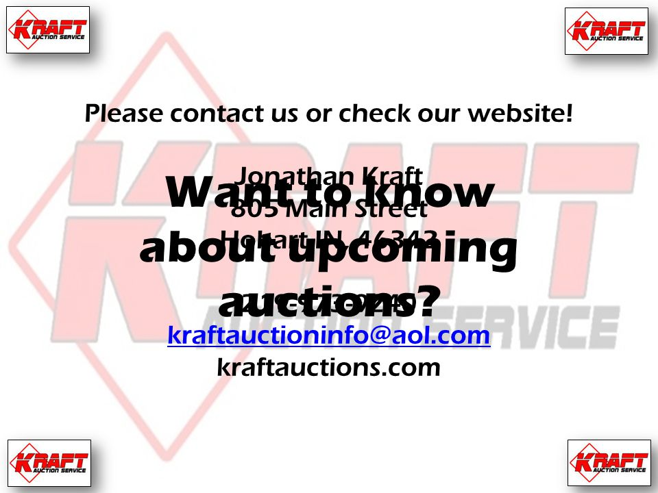 Please contact us or check our website.