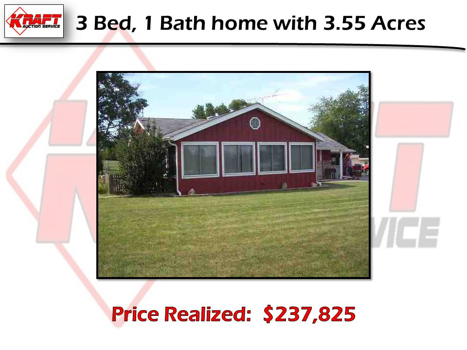 3 Bed, 1 Bath home with 3.55 Acres