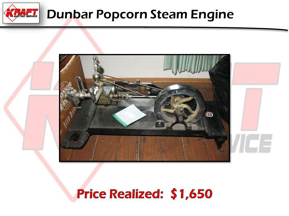 Dunbar Popcorn Steam Engine