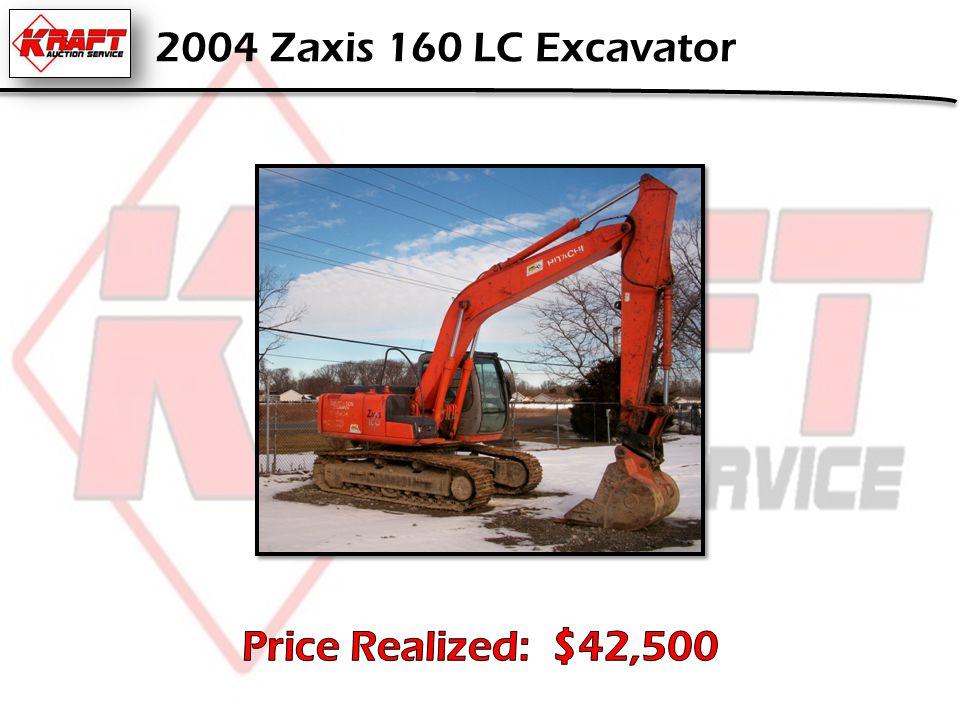 2004 Zaxis 160 LC Excavator