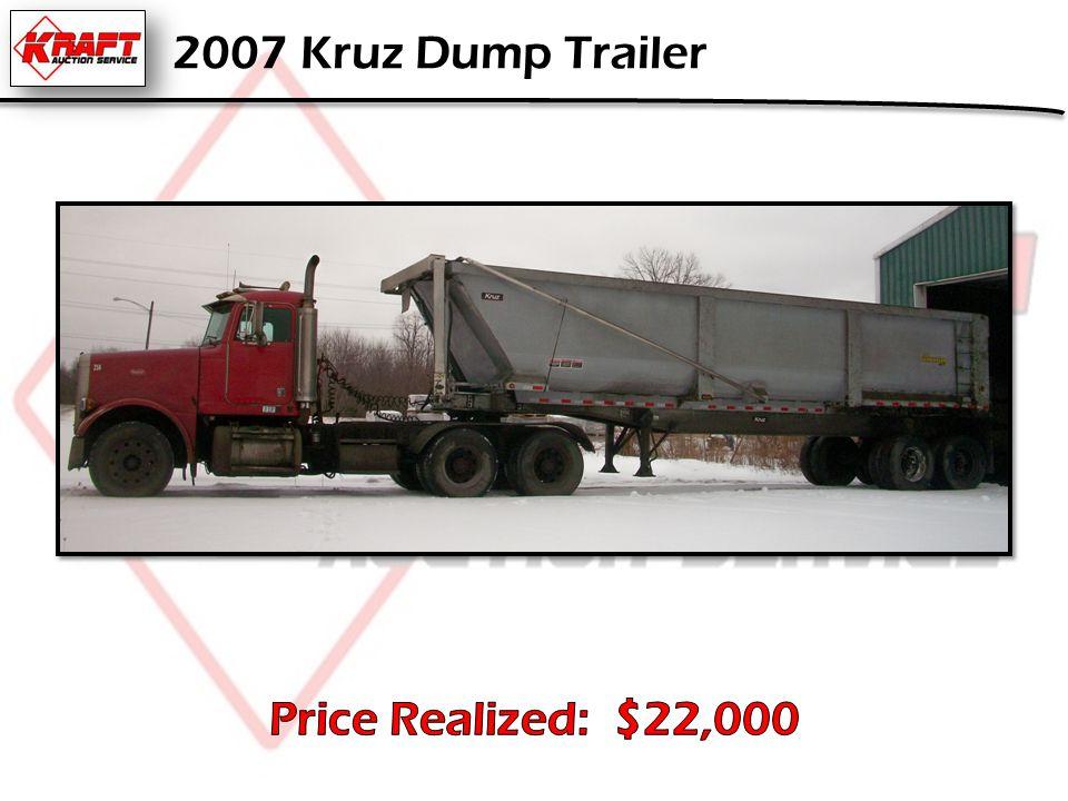 2007 Kruz Dump Trailer