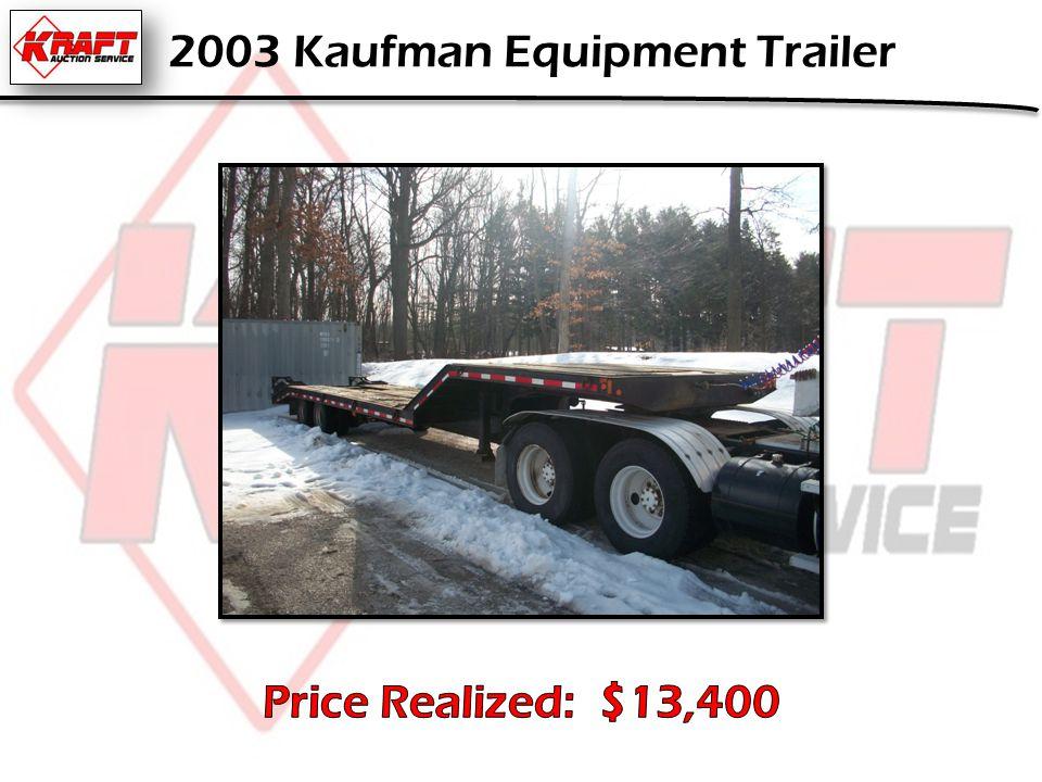 2003 Kaufman Equipment Trailer