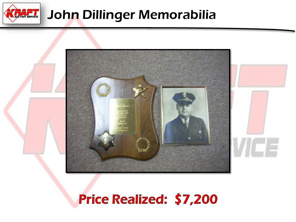John Dillinger Memorabilia