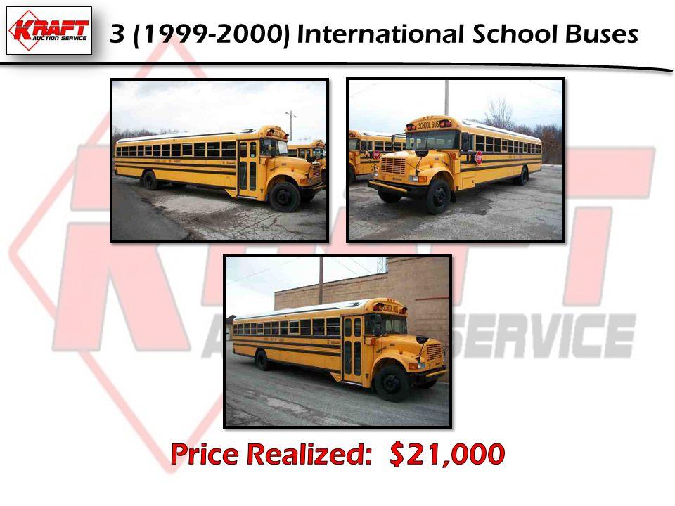 3 (1999-2000) International School Buses