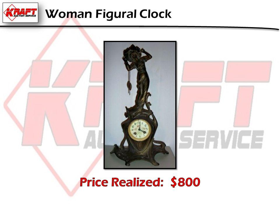 Woman Figural Clock