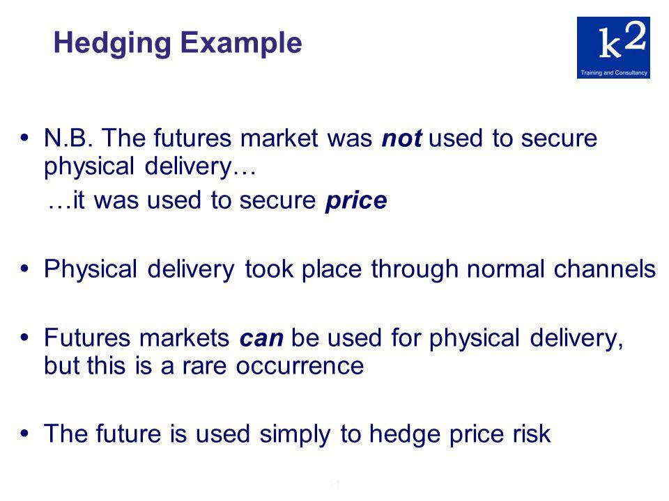 14 Hedging Example N.B.