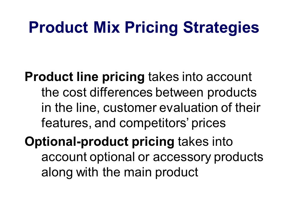 Price-Adjustment Strategies FOB-origin (free on board) pricing means that the goods are delivered to the carrier and the title and responsibility passes to the customer Uniformed-delivered pricing means the company charges the same price plus freight to all customers, regardless of location